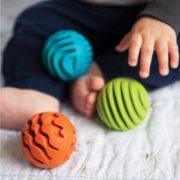 sensory rollers aan de hendjes en de voetjes